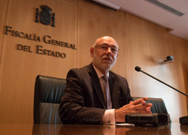 José Manuel Maza en la Fiscalía General del Estado. Madrid, 2017. © Ana Cian.