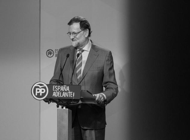 Mariano Rajoy en la sede del PP. Madrid, 2017. © Ana Cian.